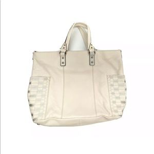 NEW Aimee Kestenberg Cream Leather Purse Handbag